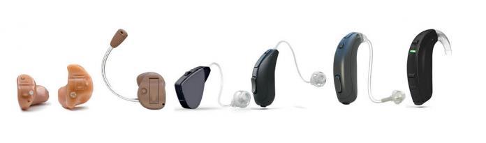 Diferentes formatos de audífonos