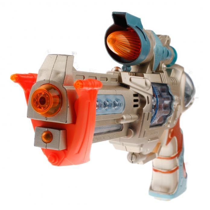 Pistola galáctica de juguete con luces y sonidos